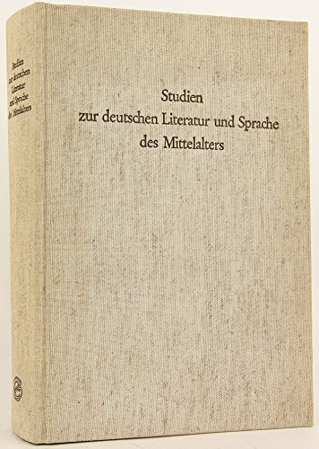 Studien zur deutschen Literatur und Sprache des Mittelalters;: Festschrift fur Hugo Moser zum 65. ...