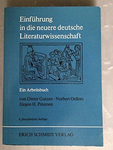 9783503012442: Einführung in die neuere deutsche Literaturwissenschaft: E. Arbeitsbuch (German Edition)