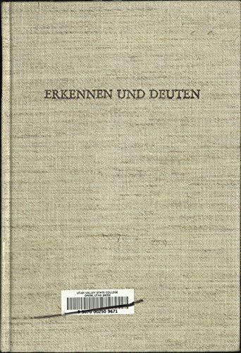 9783503016853: Erkennen und Deuten: Essays zur Literatur und Literaturtheorie Edgar Lohner in memoriam (German Edition)