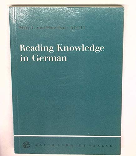 9783503030255: Reading Knowledge in German