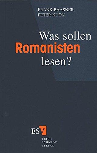 9783503030811: Was sollen Romanisten lesen?