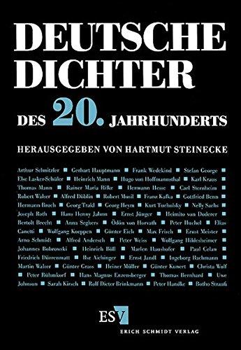 9783503037506: Deutsche Dichter des 20. Jahrhunderts.