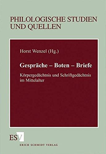 Gespräche. Boten. Briefe: Peter Göhler