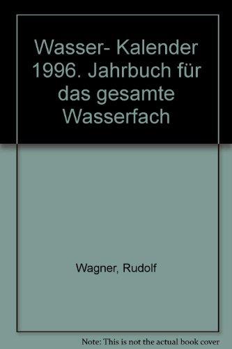 9783503038619: Wasser- Kalender 1996. Jahrbuch für das gesamte Wasserfach