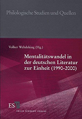 Mentalitätswandel in der deutschen Literatur zur Einheit (1990 - 2000): Volker Wehdeking