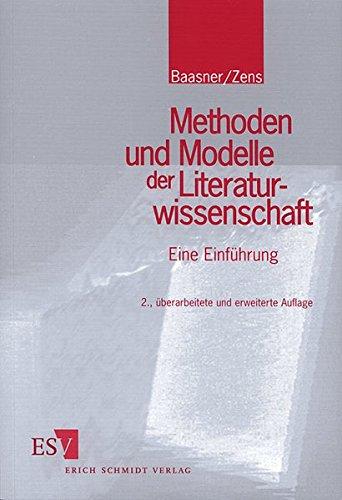 9783503049899: Methoden und Modelle der Literaturwissenschaft. Eine Einführung.