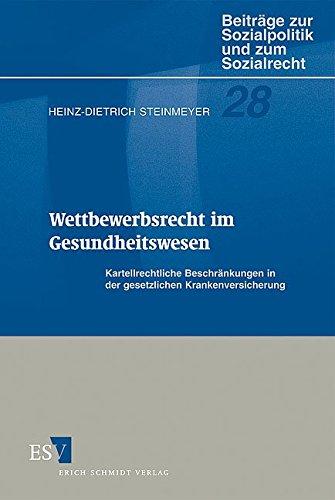 9783503058877: Wettbewerbsrecht im Gesundheitswesen.