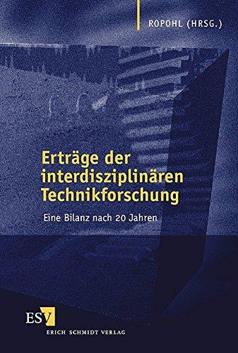 9783503060085: Erträge der Interdisziplinären Technikforschung. Eine Bilanz nach 20 Jahren.