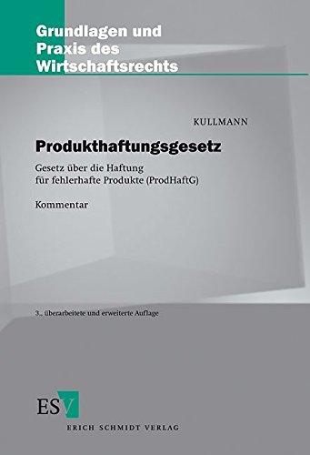 9783503060627: Produkthaftungsgesetz. Gesetz über die Haftung fehlerhafter Produkte ( ProdHaftG).