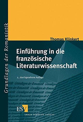 9783503061341: Einführung in die französische Literaturwissenschaft.