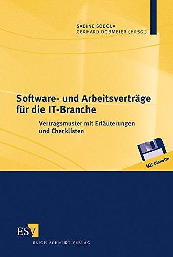 9783503070787: Software- und Arbeitsverträge.