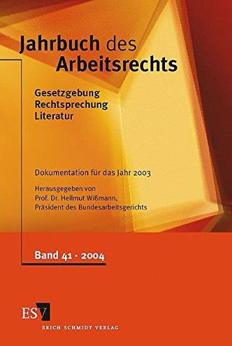 Jahrbuch des Arbeitsrechts 41: Heinz Gottwald