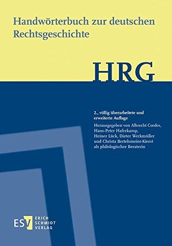 9783503079117: Handwörterbuch zur deutschen Rechtsgeschichte (HRG) - Lieferungsbezug -