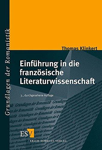 9783503079292: Einführung in die französische Literaturwissenschaft