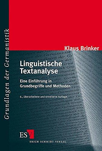 9783503079483: Linguistische Textanalyse