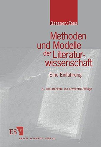 9783503079520: Methoden und Modelle der Literaturwissenschaft