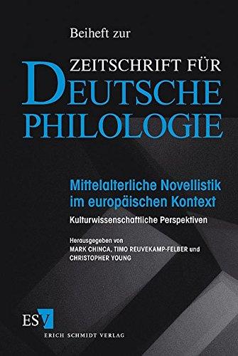 Mittelalterliche Novellistik im europäischen Kontext: Mark Chinca