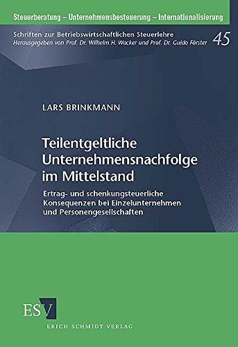 Teilentgeltliche Unternehmensnachfolge im Mittelstand: Lars Brinkmann