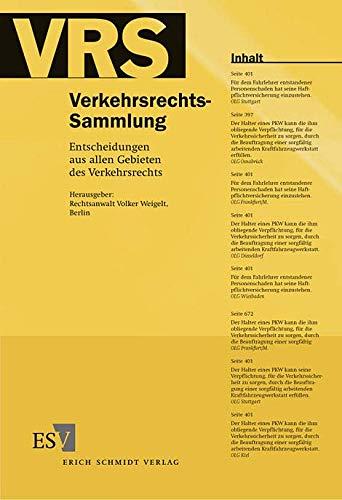 Verkehrsrechts-Sammlung (VRS) Band 109