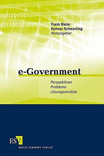 9783503097296: e-Government: Perspektiven - Probleme - Lösungsansätze