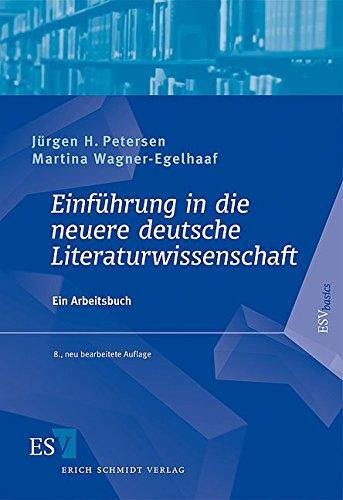 9783503098804: Einf�hrung in die neuere deutsche Literaturwissenschaft: Ein Arbeitsbuch