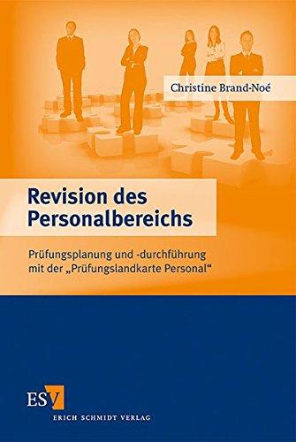 9783503110087: Revision des Personalbereichs: Pr�fungsplanung und -durchf�hrung mit der