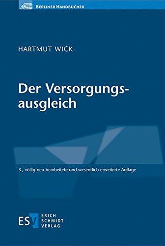 Der Versorgungsausgleich: Hartmut Wick