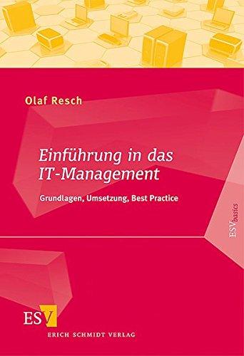 9783503120604: Einf�hrung in das IT-Management: Grundlagen, Umsetzung, Best Practice