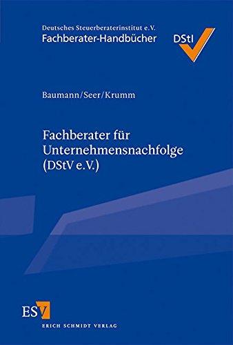 Fachberater für Unternehmensnachfolge (DStV e.V.): Wolfgang Baumann