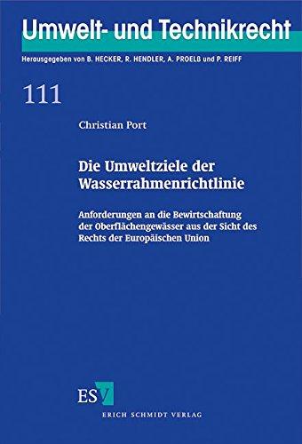Die Umweltziele der Wasserrahmenrichtlinie: Christian Port