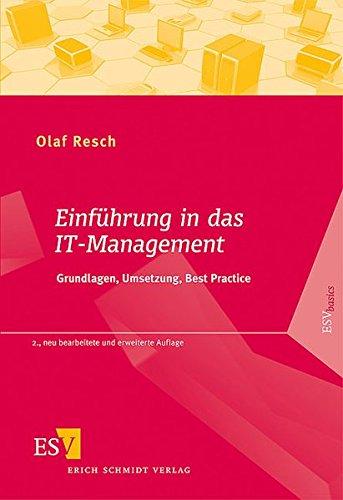 9783503136643: Einführung in das IT-Management: Grundlagen, Umsetzung, Best Practice