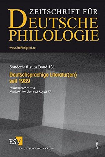 Deutschsprachige Literatur(en) seit 1989: Norbert Otto Eke