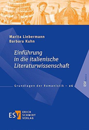 9783503137923: Einführung in die italienische Literaturwissenschaft