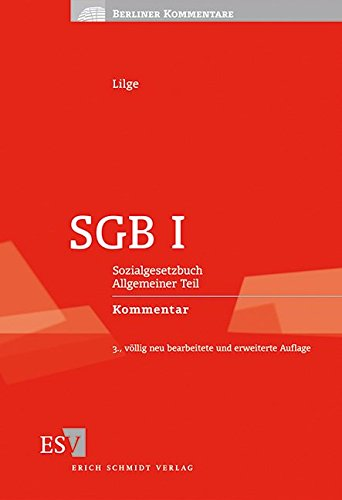 9783503138319: SGB I: Sozialgesetzbuch Allgemeiner Teil Kommentar