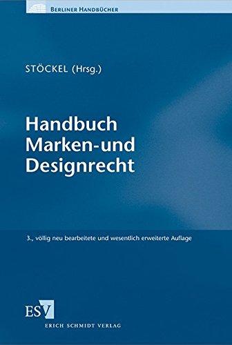 9783503141548: Handbuch Marken- und Designrecht: mit Onlineangebot