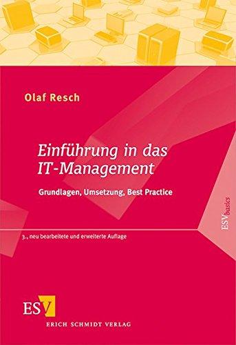 9783503144068: Einführung in das IT-Management: Grundlagen, Umsetzung, Best Practice