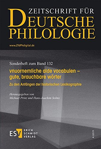 vnuornemliche alde vocabulen - gute, brauchbare wörter: Jochen A. B�r