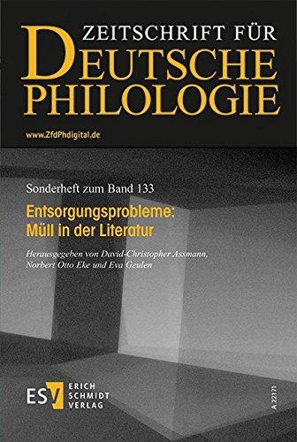 9783503155583: Entsorgungsprobleme: Müll in der Literatur: Sonderhefte der Zeitschrift für deutsche Philologie 133