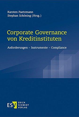 Corporate Governance von Kreditinstituten: Karsten Paetzmann