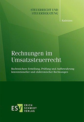 Rechnungen im Umsatzsteuerrecht: Rolf-R�diger Radeisen