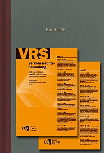 Verkehrsrechts-Sammlung (VRS) Bd. 126