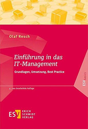 9783503167470: Einführung in das IT-Management: Grundlagen, Umsetzung, Best Practice