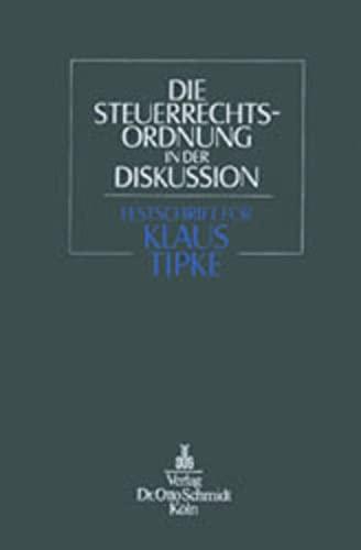 Die Steuerrechtsordnung in der Diskussion: Joachim Lang