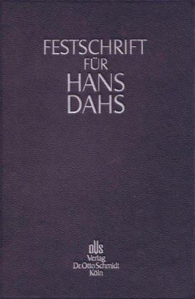 Festschrift fur Hans Dahs: Gunther Jakobs, Urs Kindhauser, Thomas C Kierim, Daniel M Krause, Heiko ...