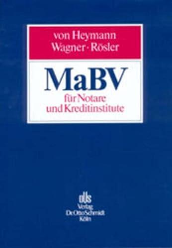 9783504061166: MaBV für Notare und Kreditinstitute. Handbuch der Makler- und Bauträgerverordnung.