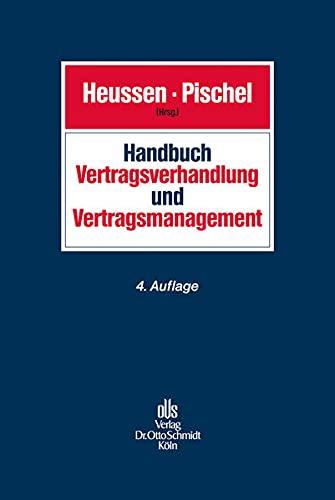 9783504063061: Handbuch Vertragsverhandlung und Vertragsmanagement