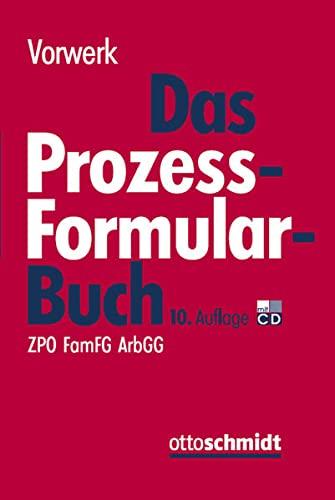 Das Prozessformularbuch: Volkert Vorwerk