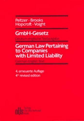 9783504325367: GmbH-Gesetz: Deutsch-englische Textausgabe mit einer englischen Einleitung