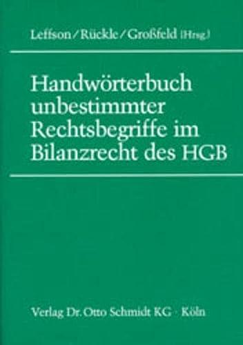 9783504351069: Handwörterbuch unbestimmter Rechtsbegriffe im Bilanzrecht des HGB.