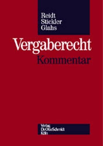 9783504400651: Vergaberecht: Kommentar (German Edition)